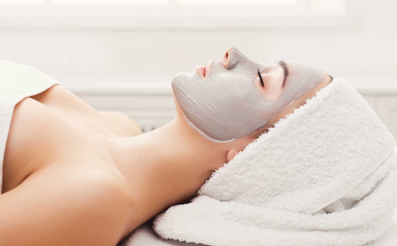 realxing facial at one of the spas around Houston