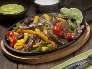 Sizzling skillet of beef fajitas! Sizzling fajitas in Houston