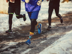 runners in the wintertime