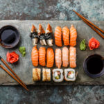 plate of sushi | best sushi restaurants in Houston
