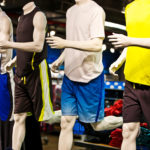 A row of mannequins at a sporting good store - sporting good store in Houston