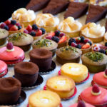 pastries in a bakery case | Houston bakeries